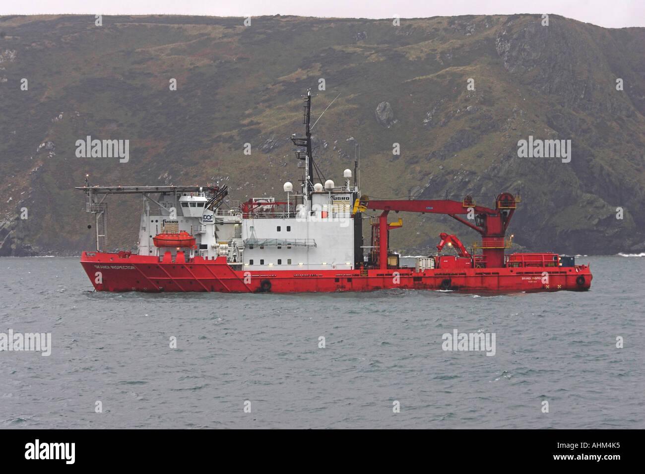 skandi inspector fugro survey rov boat - Stock Image