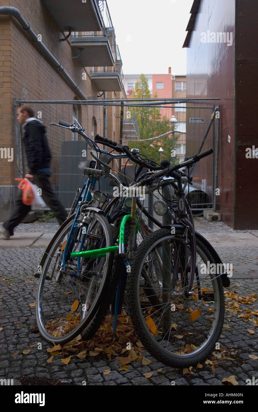 bicicletas,kreuzberg,berlin,alemania,germany.bikes - Stock Image