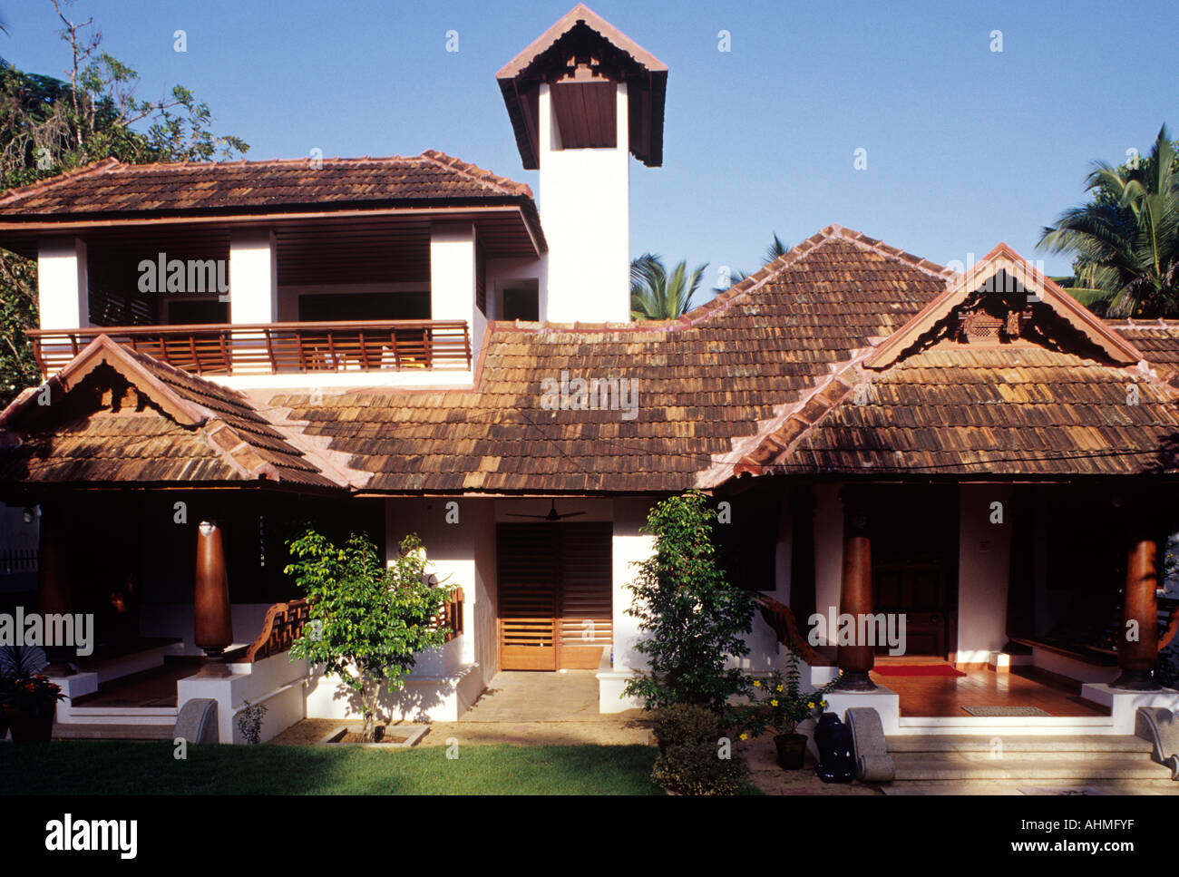 A House Built In Traditional Style Of Architecture Kerala Stock