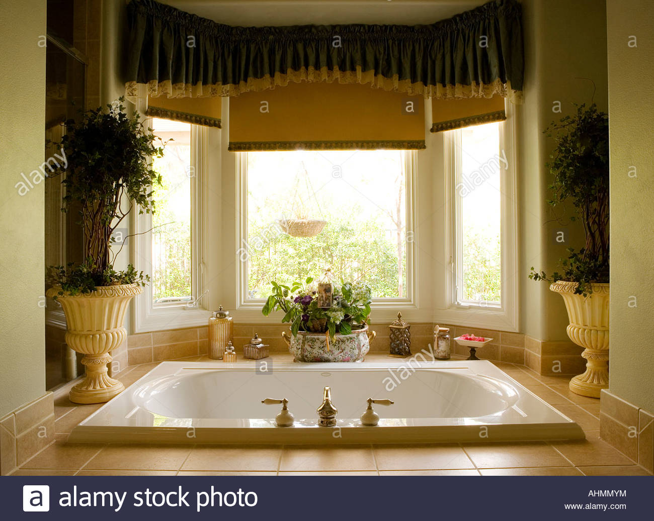 Large Jacuzzi Tub in Master Bathroom Stock Photo: 14507911 - Alamy