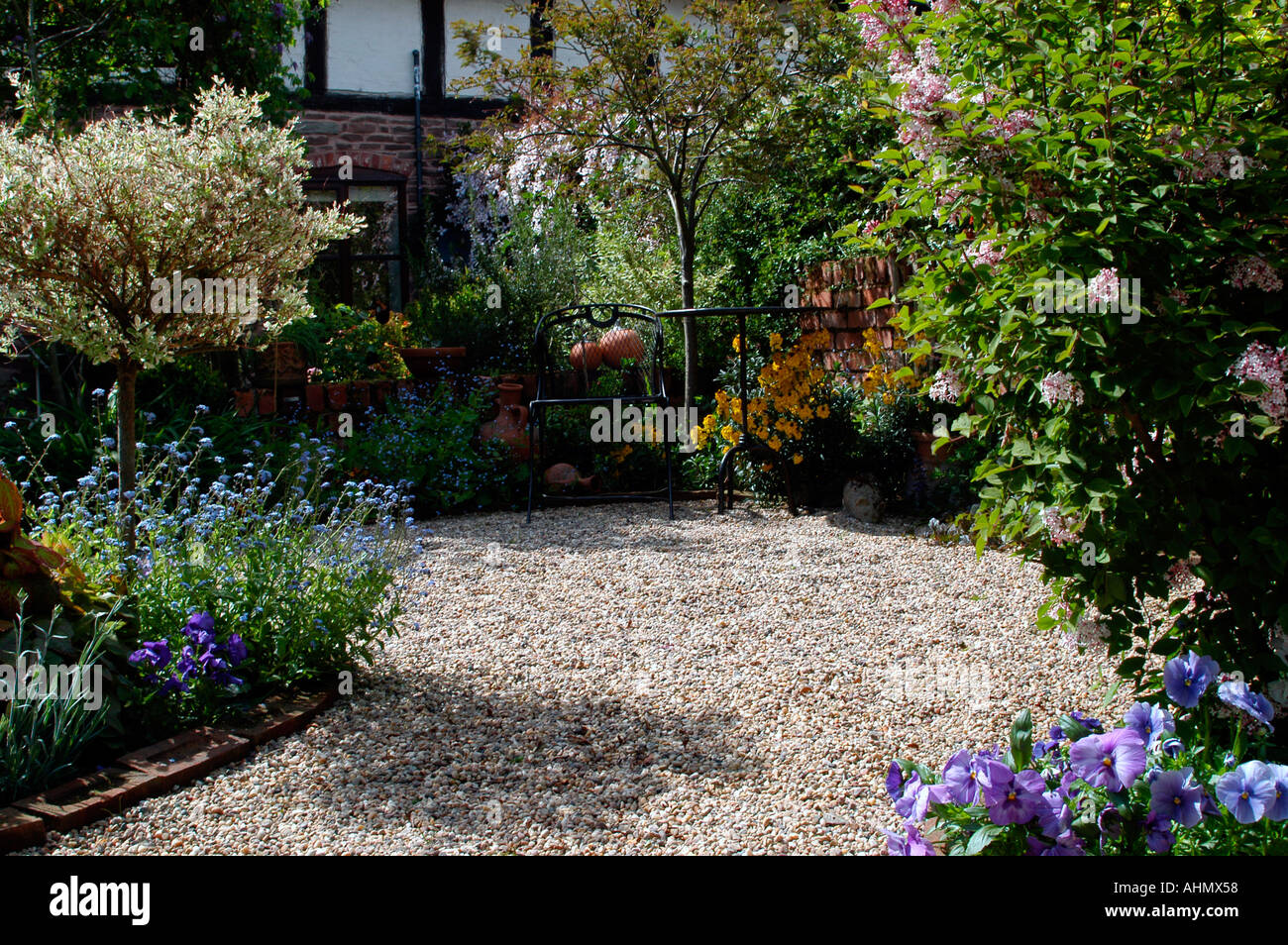 The Garden Path Of An English Cottage