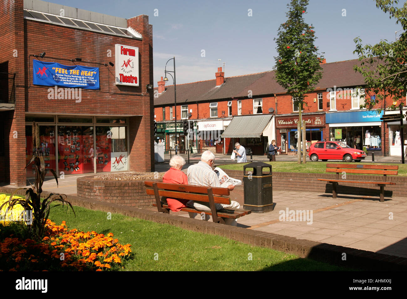 UK Cheshire Stockport Romiley Compstall Road Forum Theatre And Shopping Precinct