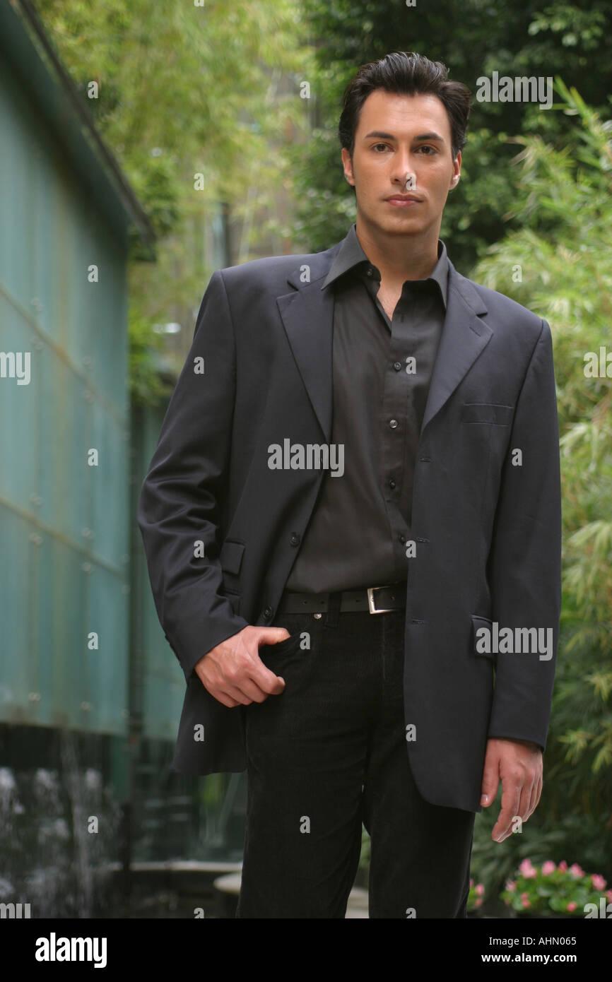 Tall dark handsome man