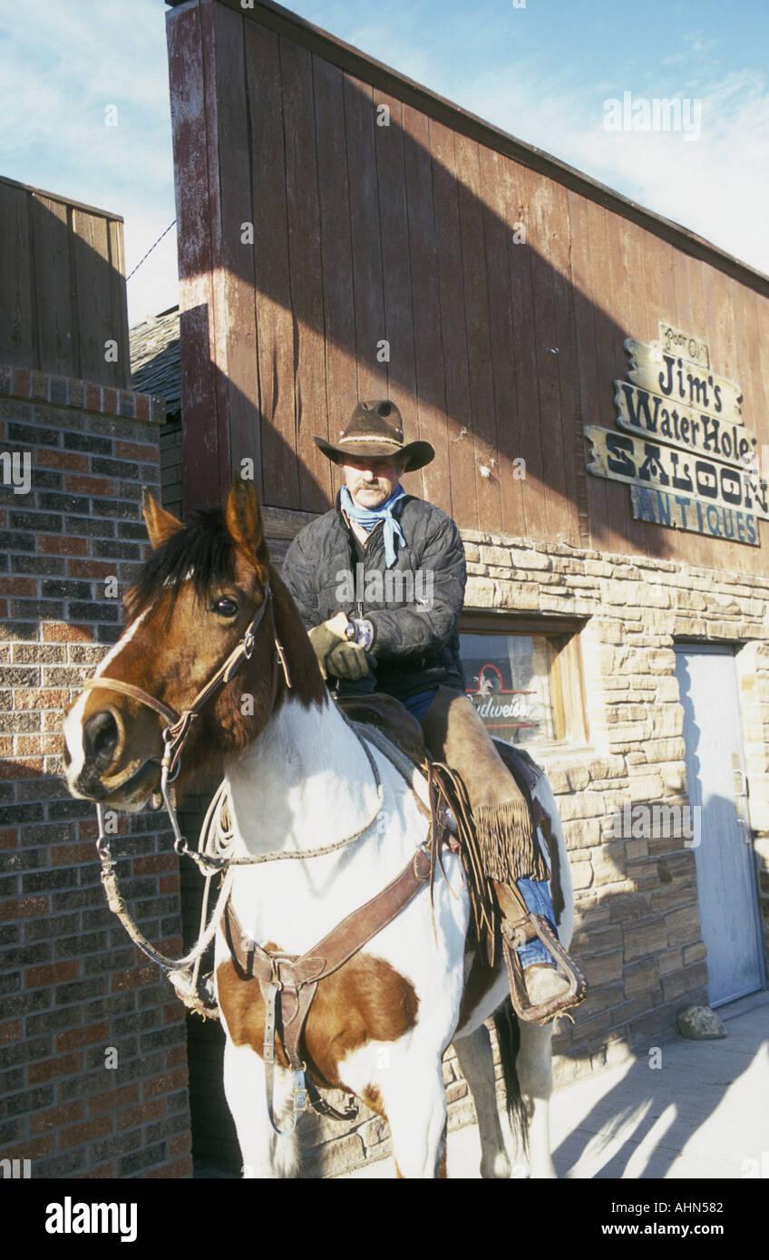 Montana cowboy - Stock Image