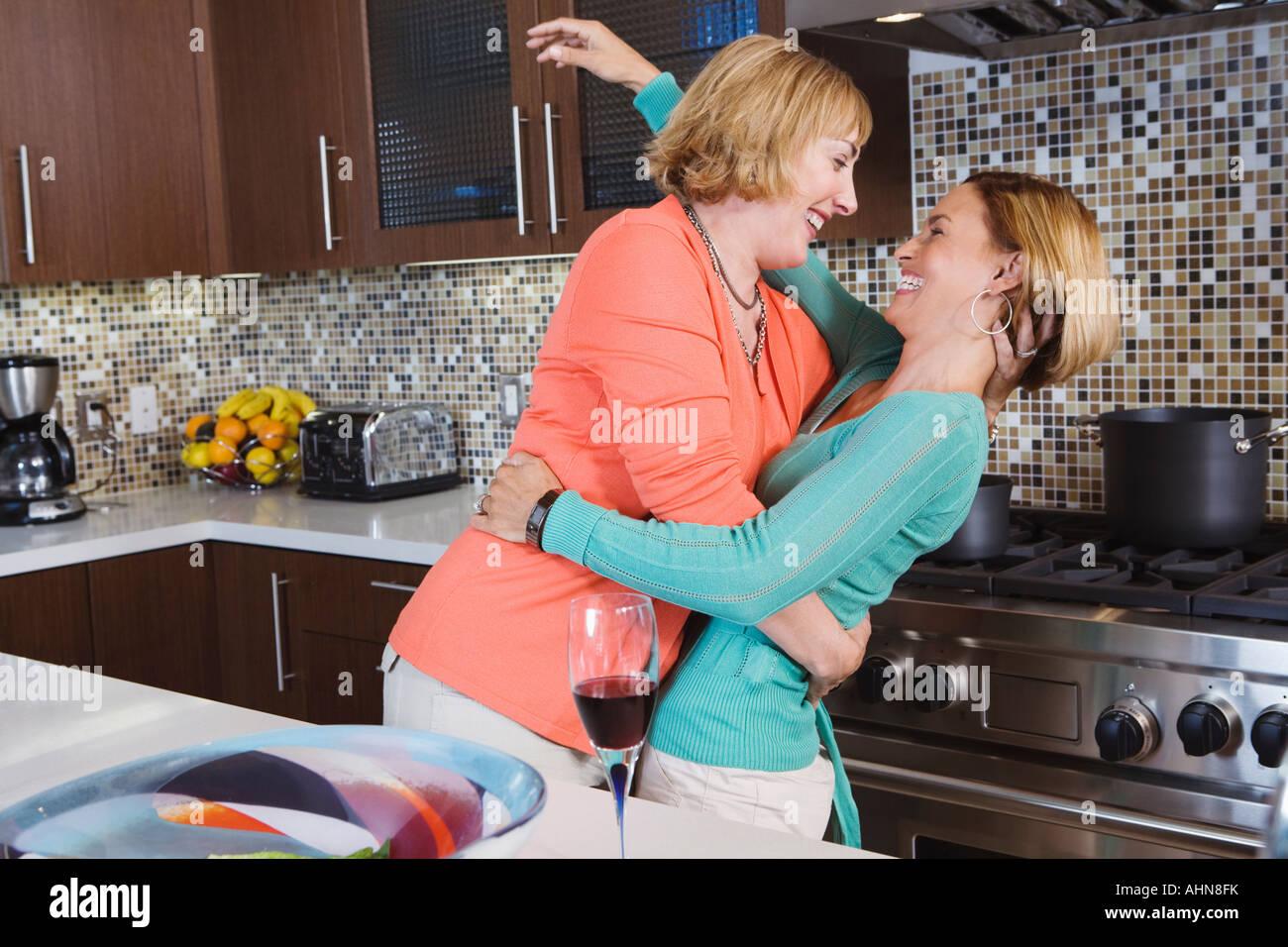 lesbian in kitchen
