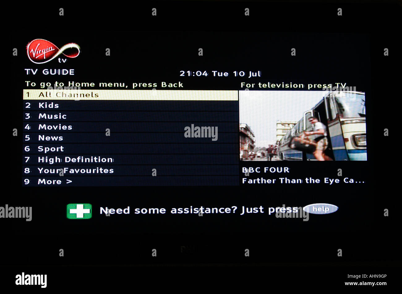 Comcast cable guide listing tv listings.