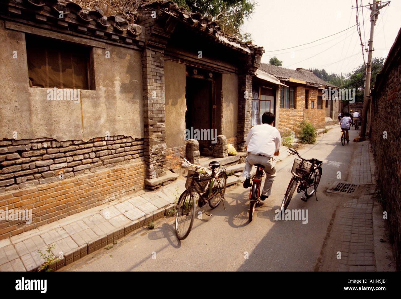Beijing hutong neighborhood - Stock Image