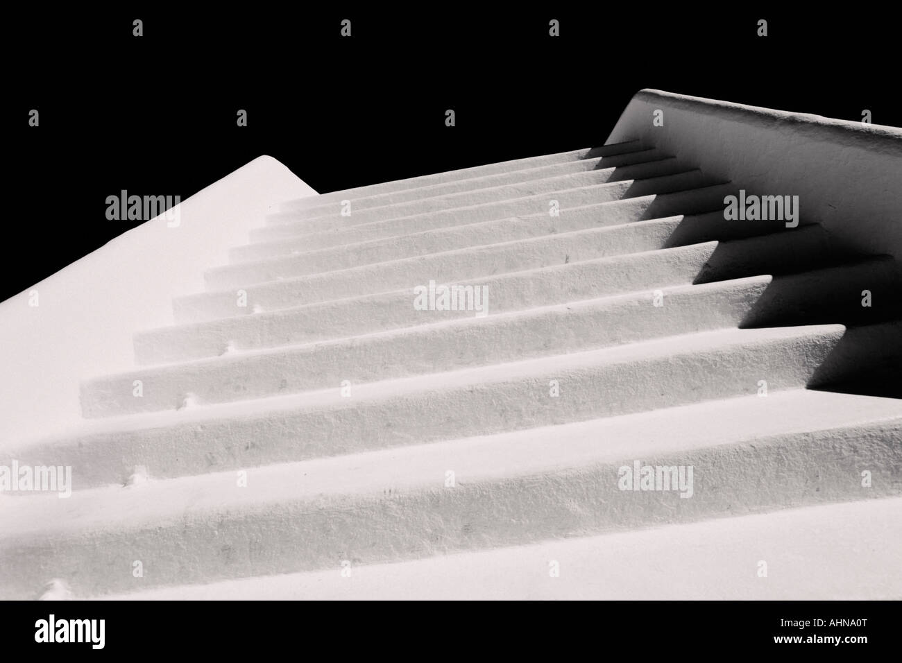 Stairway ascending to nowhere - Stock Image