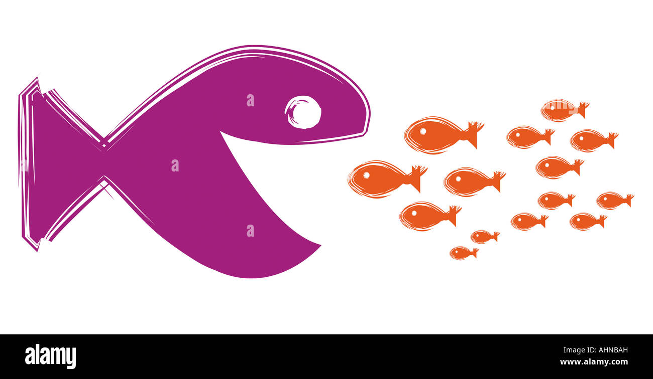 Fish cartoon digital illustration Stock Photo