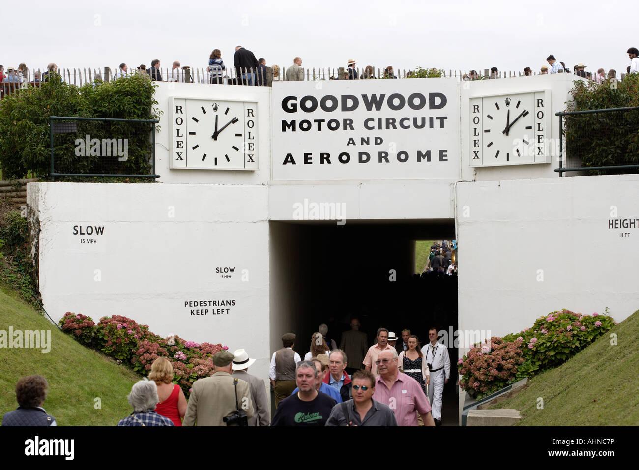 Goodwood motor circuit and aerodrome Chichester England UK - Stock Image