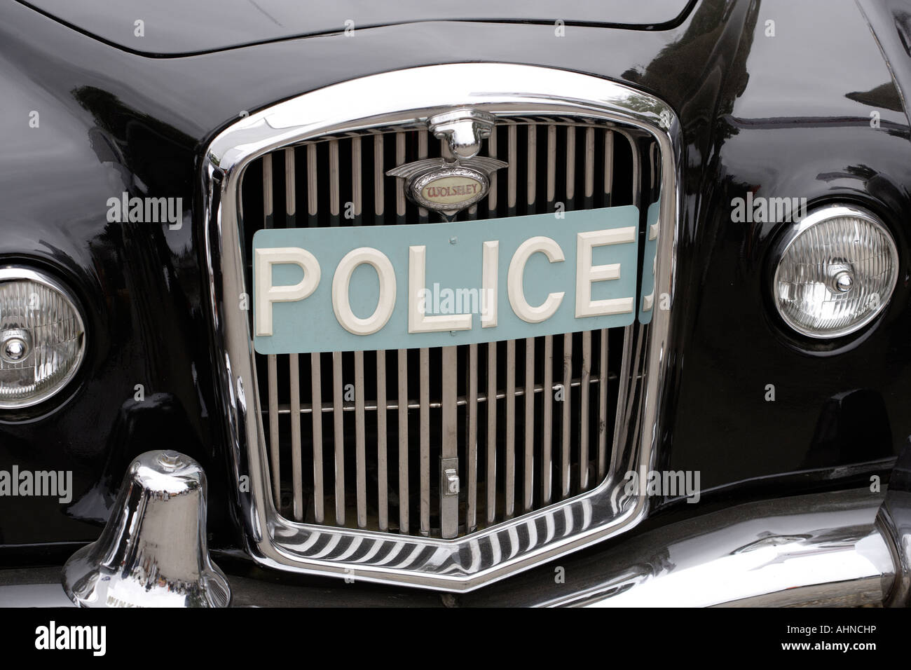 Old fashioned British Police Car front grill Stock Photo: 14514513 ...