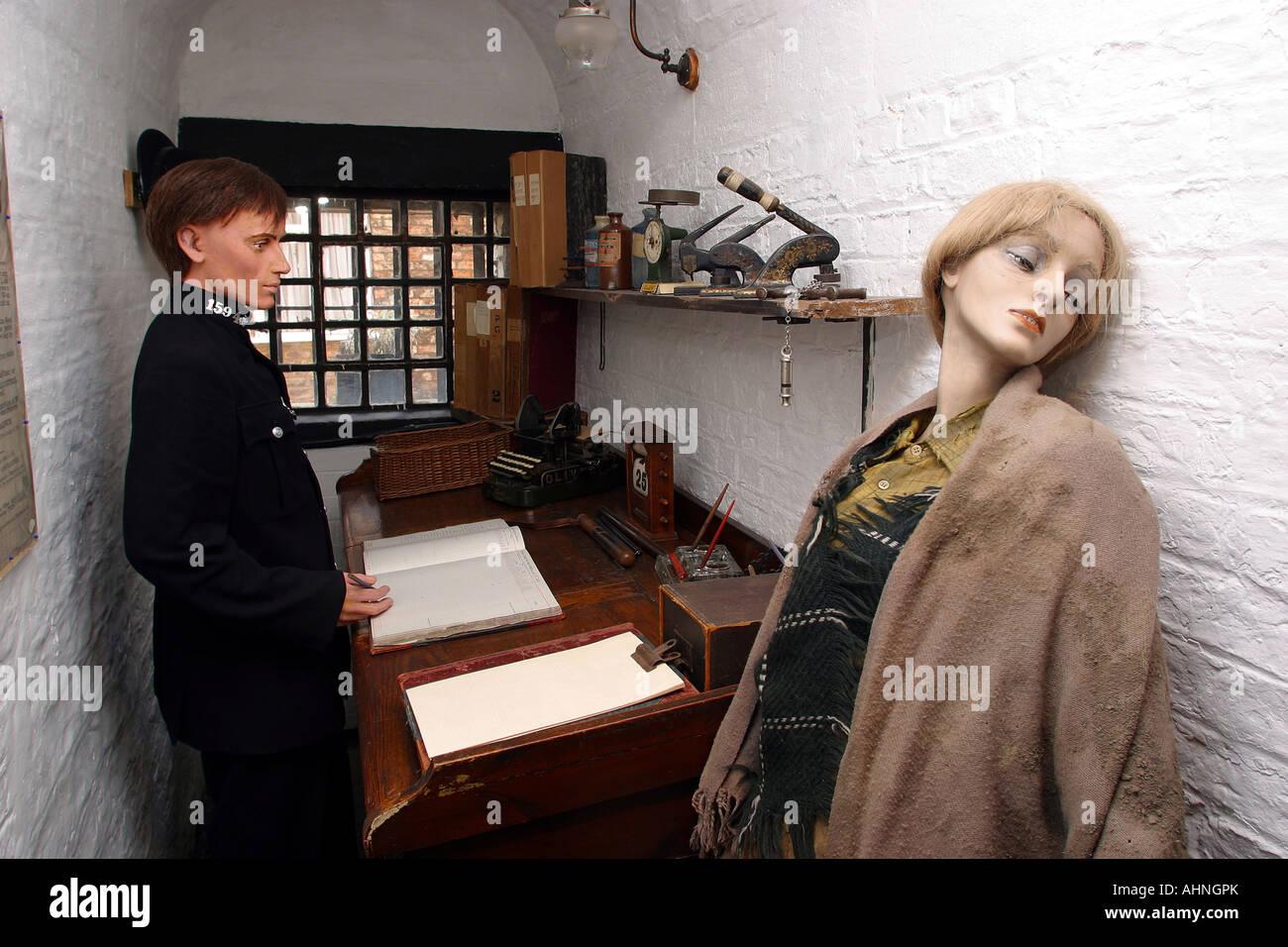 UK Yorkshire Ripon St Marygate House of Correction Museum Charge Desk - Stock Image