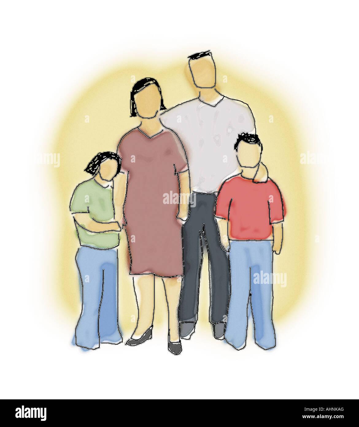 nuclear family cartoon stock photos nuclear family cartoon stock