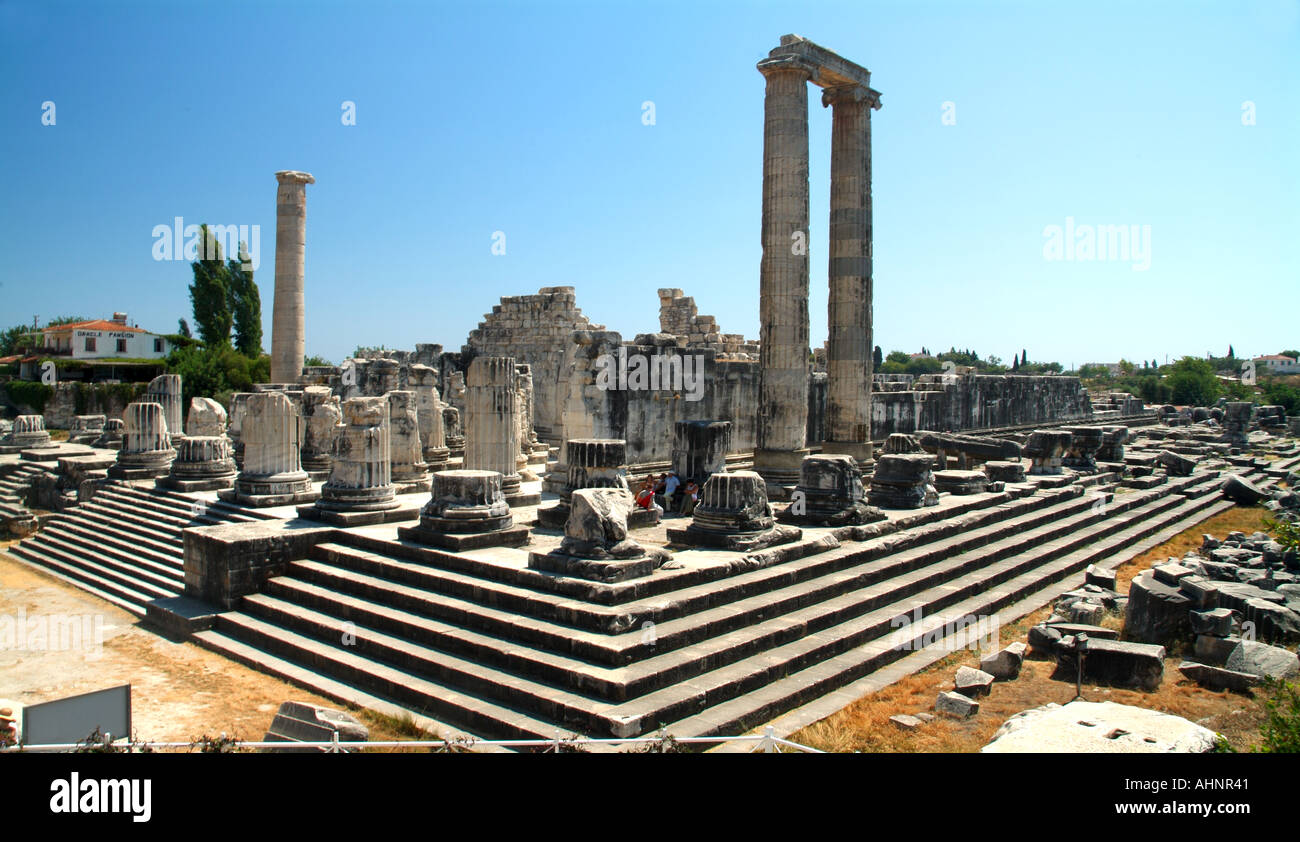 Temple of Apollo ancient greek Didyma Turkey - Stock Image