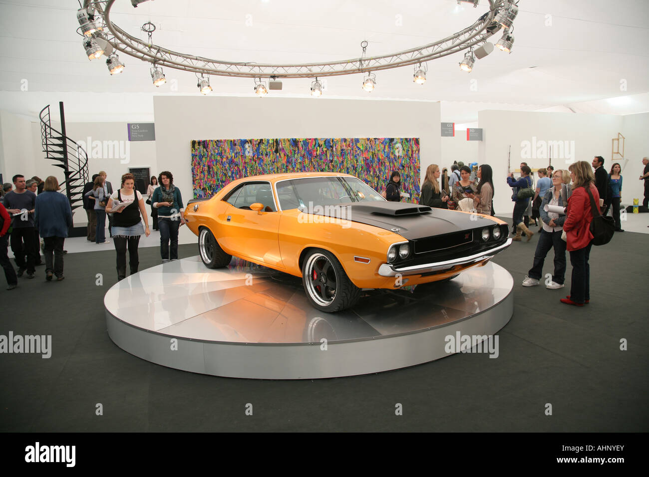 An artwork by Richard Prince on display at the Frieze Art Fair, Regents, Park, London, UK. - Stock Image