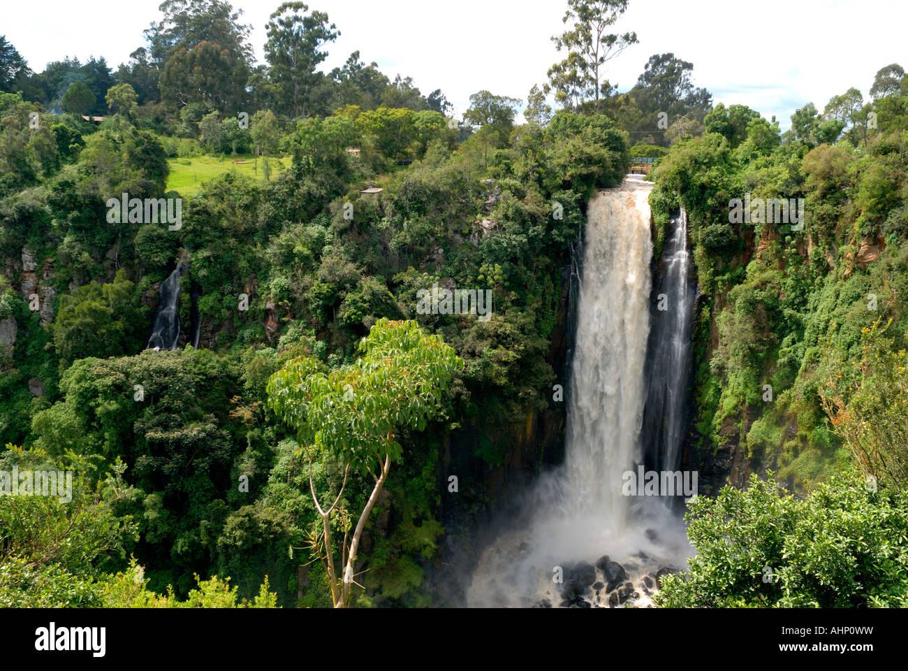 Thomson s Falls at Nyahururu Kenya East Africa - Stock Image