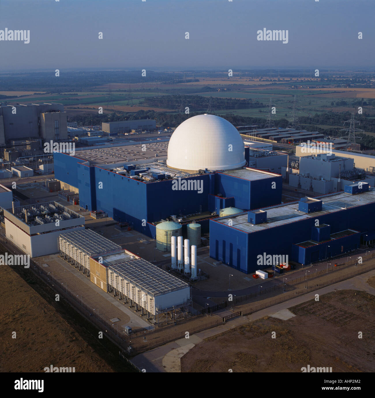 Sizewell B Nuclear Power Station Suffolk UK aerial view - Stock Image