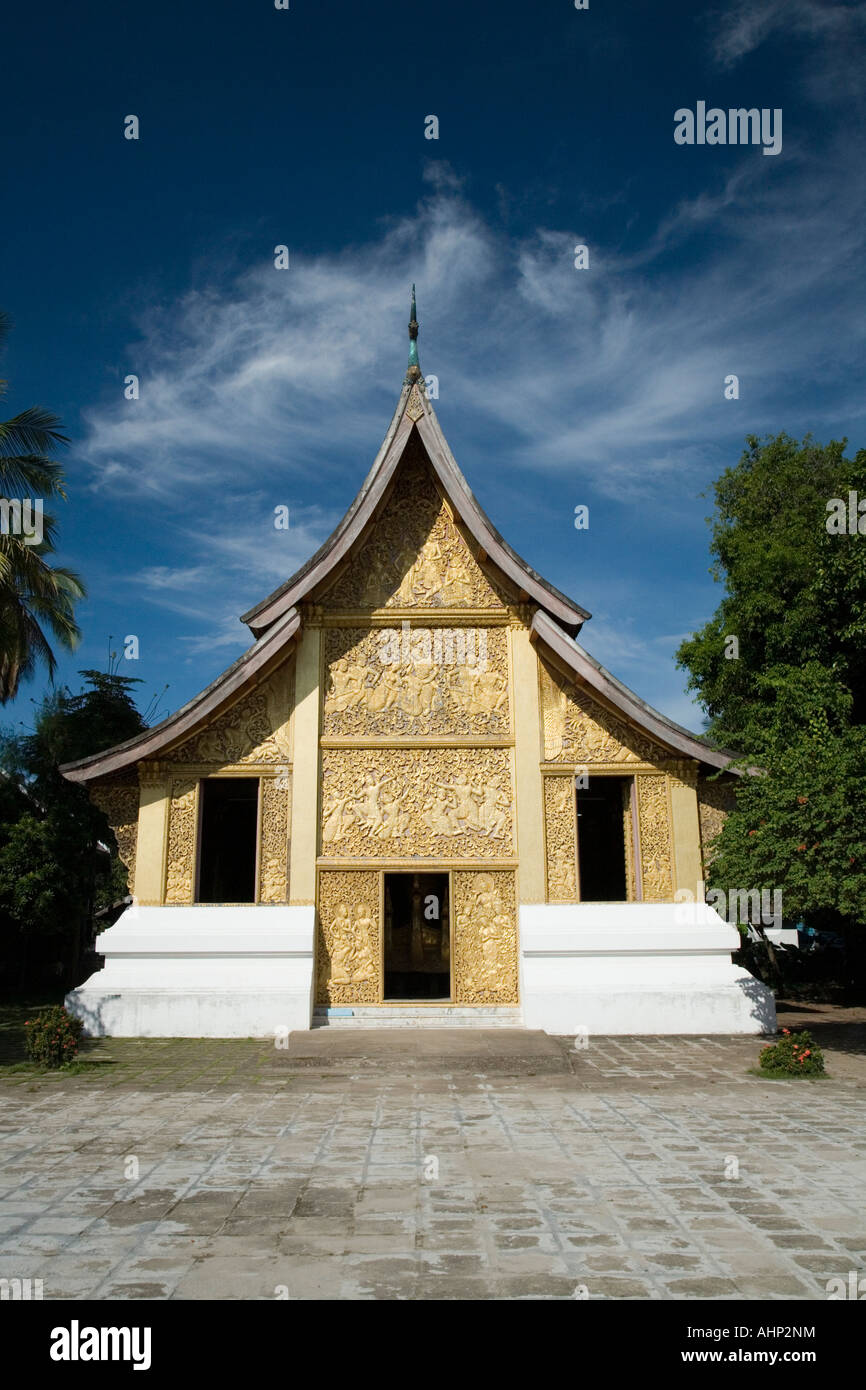 Funerary carriage house of Xieng Thong Temple in Luang Prabang Laos - Stock Image