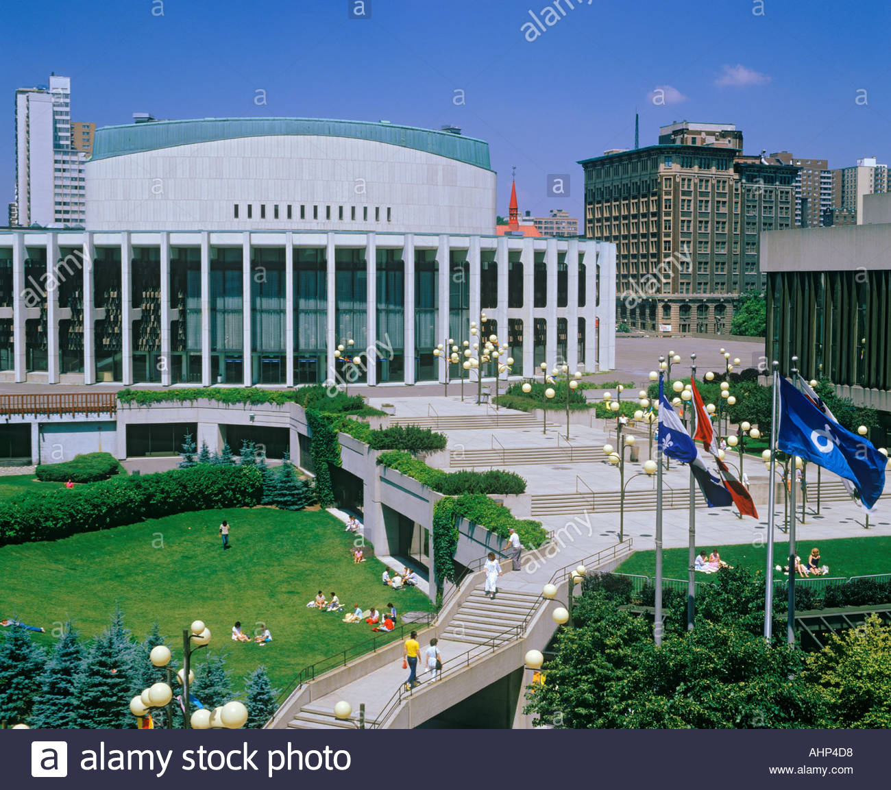 Place Des Arts concert hall in Montreal Quebec Canada - Stock Image