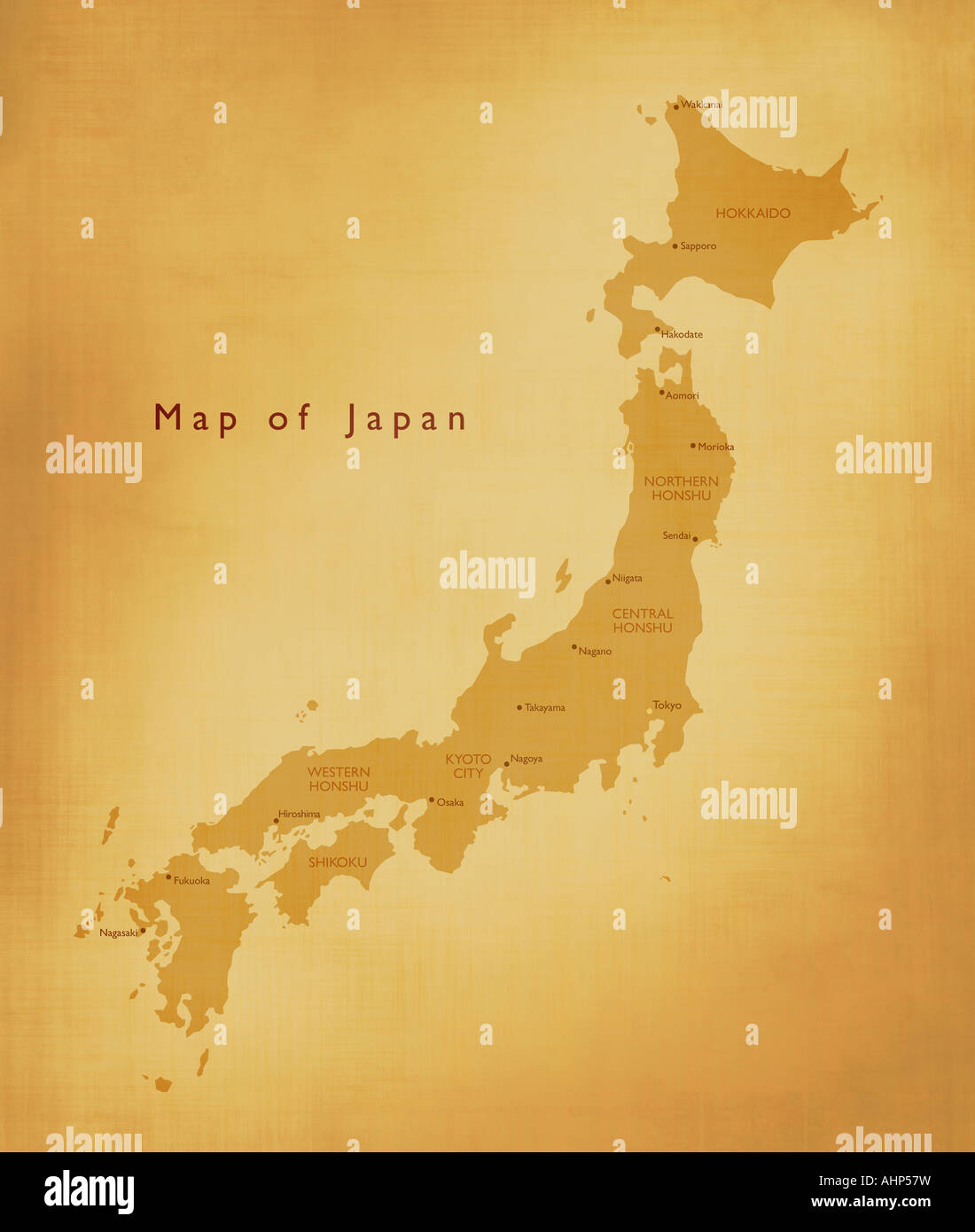 Map of Japan - Stock Image