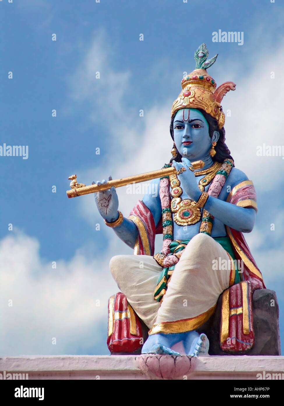 Stock Photo of Hindu God Lord Krishna - Stock Image