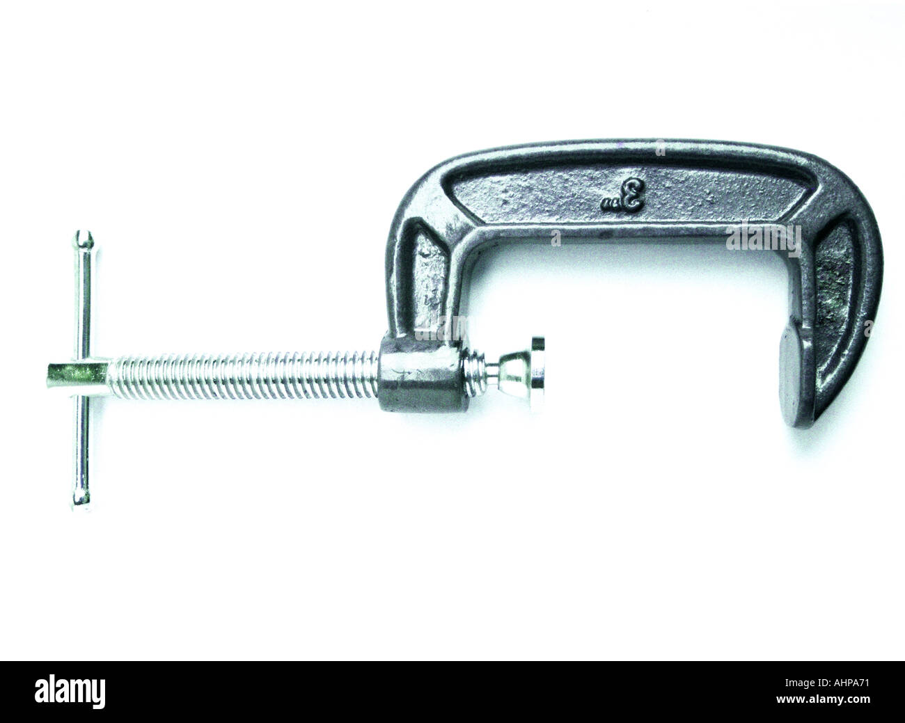 simple clamp on white background with shadow - Stock Image