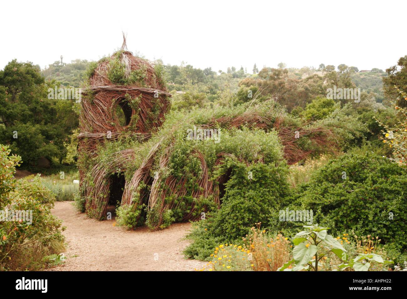 Santa Barbara Botanical Garden California USA Willow House In Garden