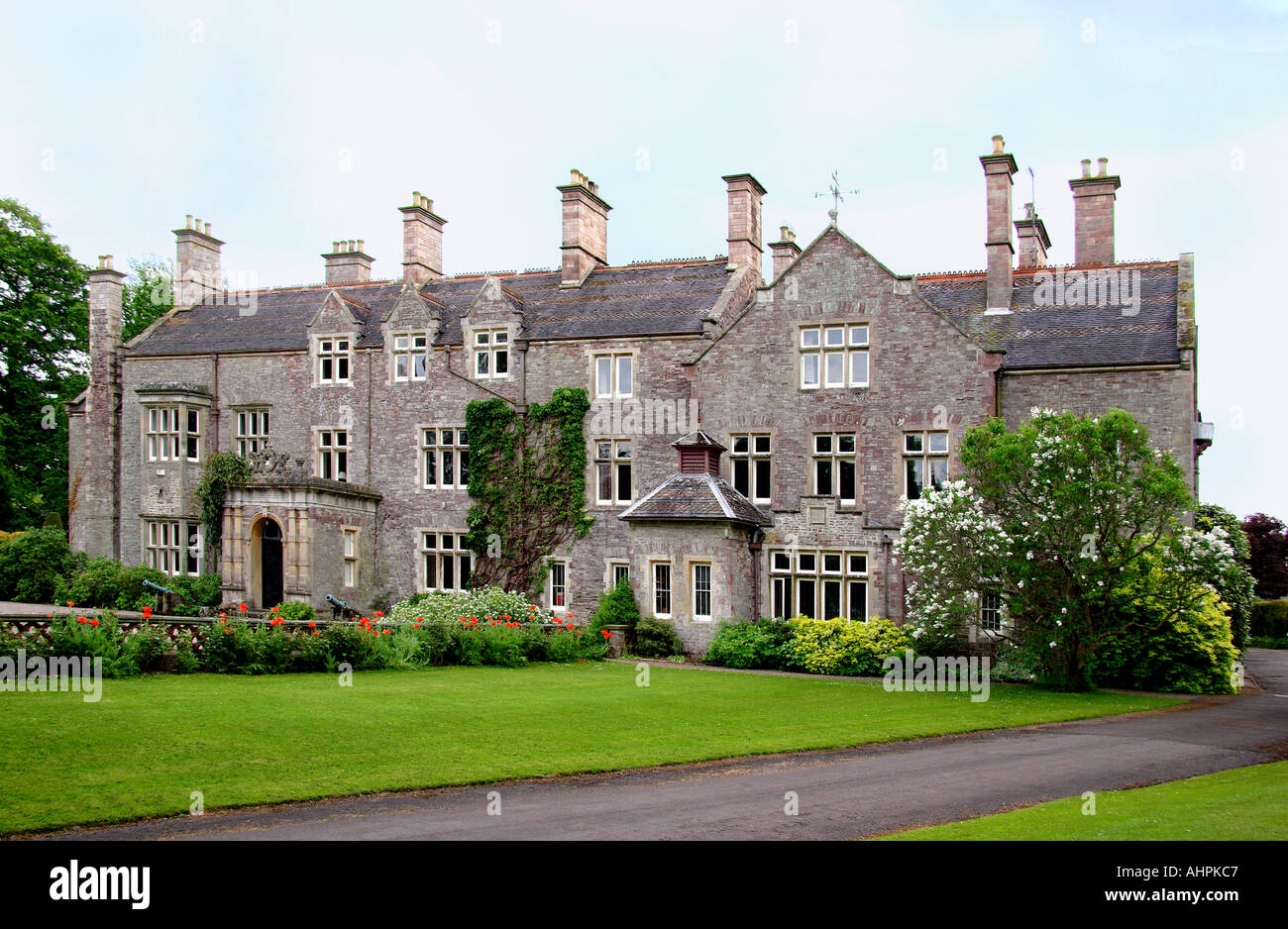 Cefntilla County House Home of Lord Raglan Monmouthshire South East Wales - Stock Image