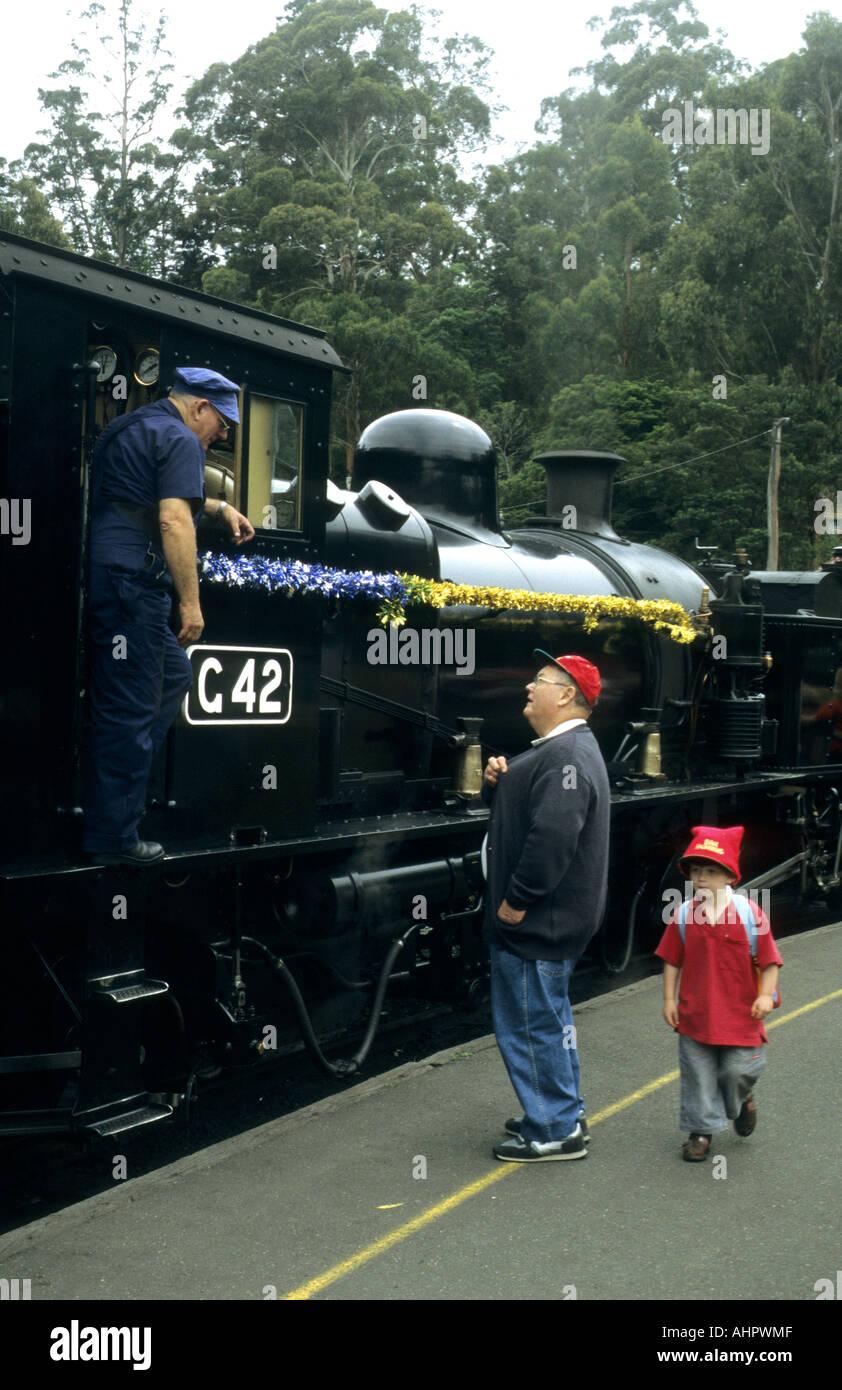Puffing Billy Railway, Belgrave, Victoria, Australia - Stock Image