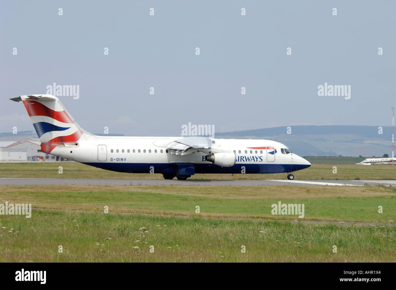BEA 146-300 British Airways Connect Passenger Jet Airliner.  XAV 1282-303 - Stock Image