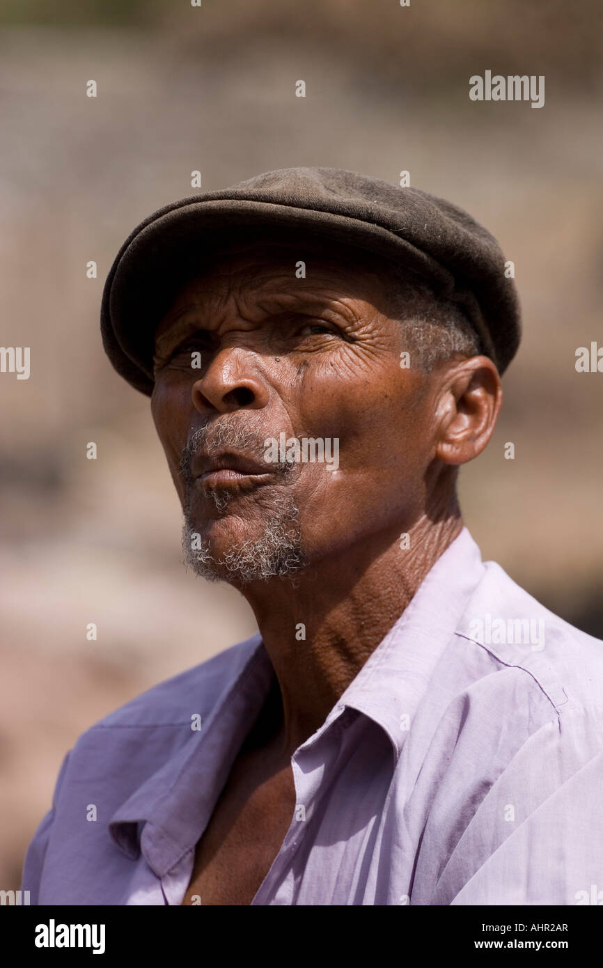 Black man with cap - Stock Image