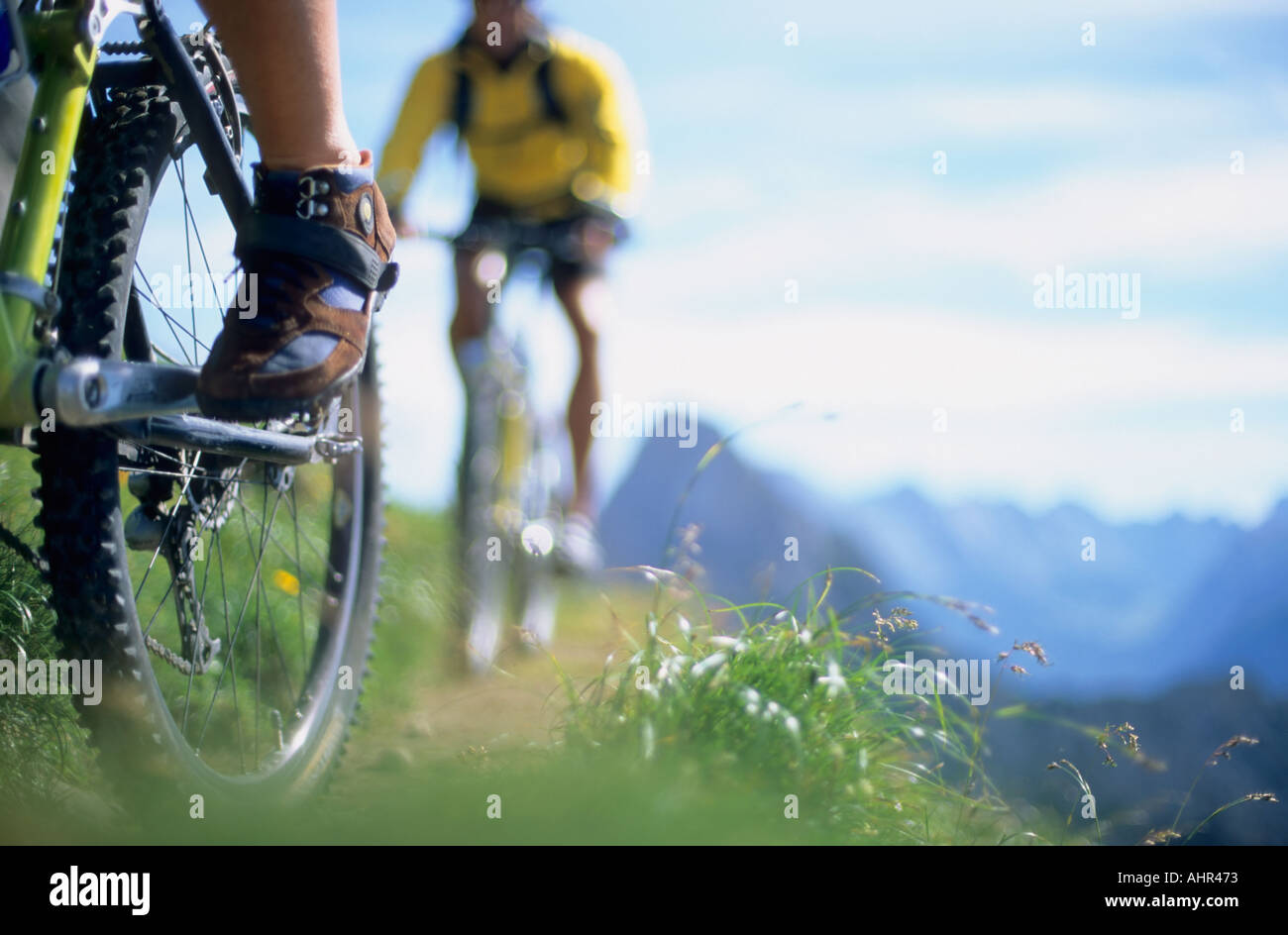Close up of people cycling - Stock Image