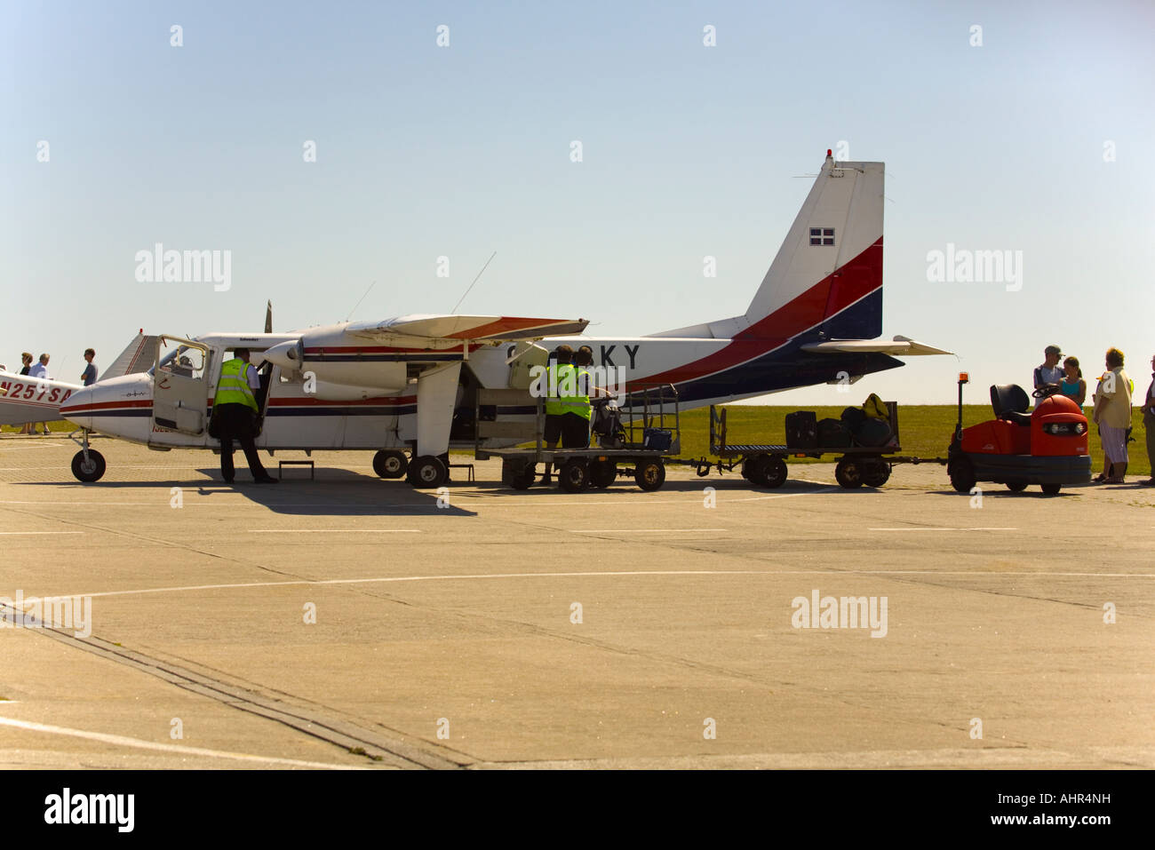 Britten-Norman Islander Skybus at St.Mary's airport - Stock Image