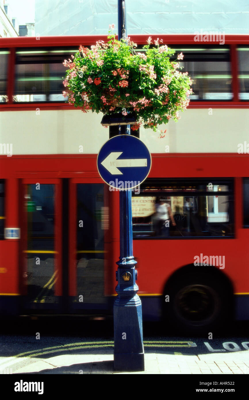Red double-decker bus - Stock Image