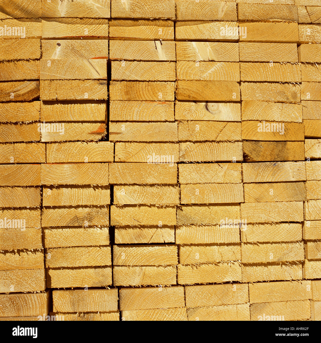 Stack of timber Stock Photo