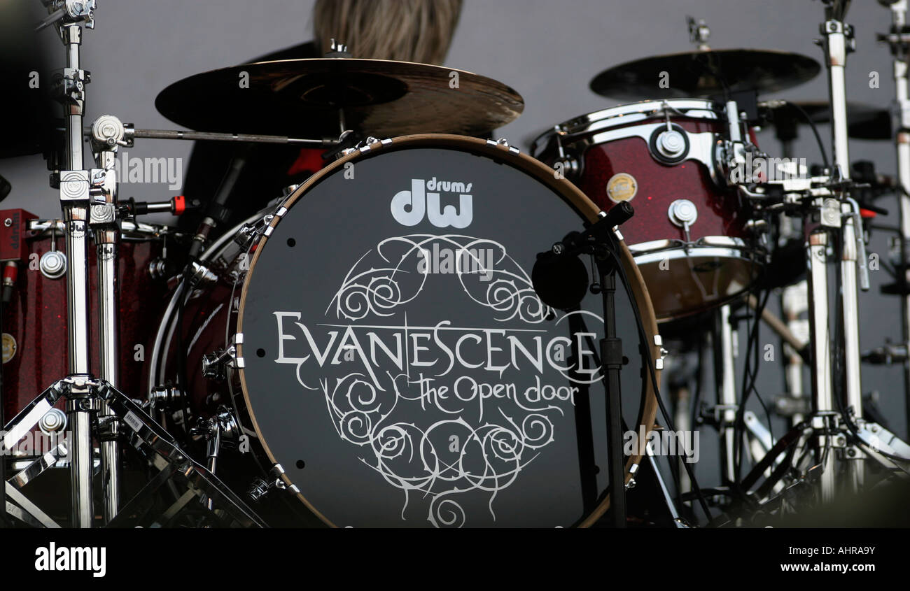 drum kit, Evanescence, American alternative rock band, from