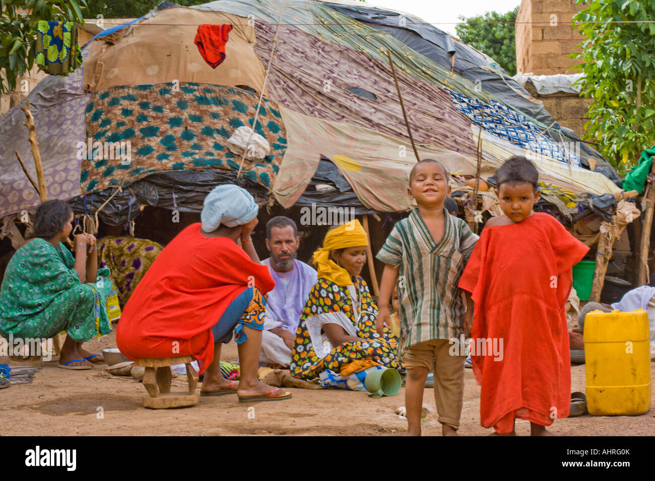 Touareg Children in Burkina Faso - Stock Image