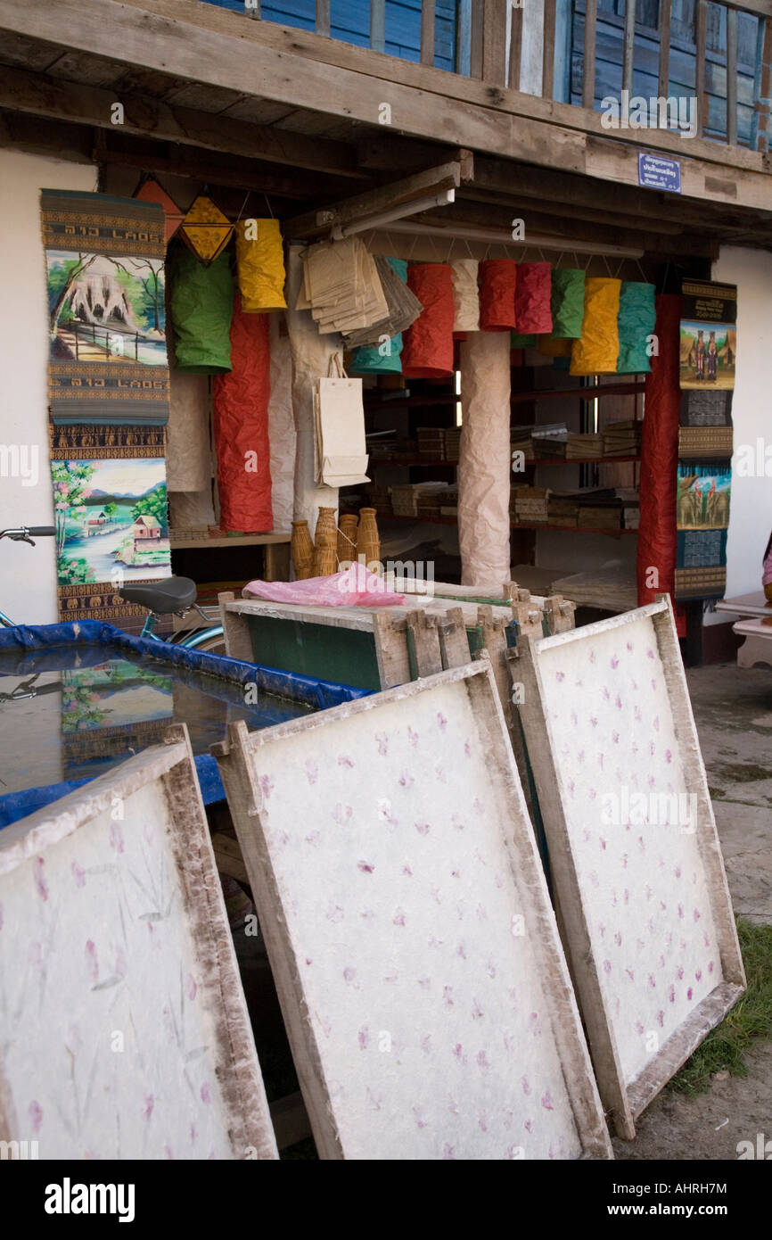paper making frames outside a shop making and selling hand made ...
