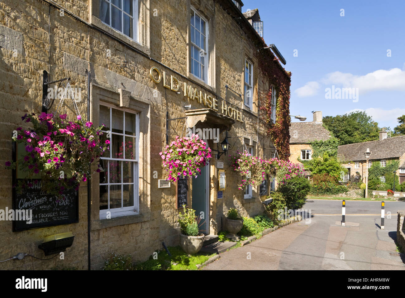 The Old Manse Hotel in the Cotswold village of Bourton on the Water, Gloucestershire - Stock Image