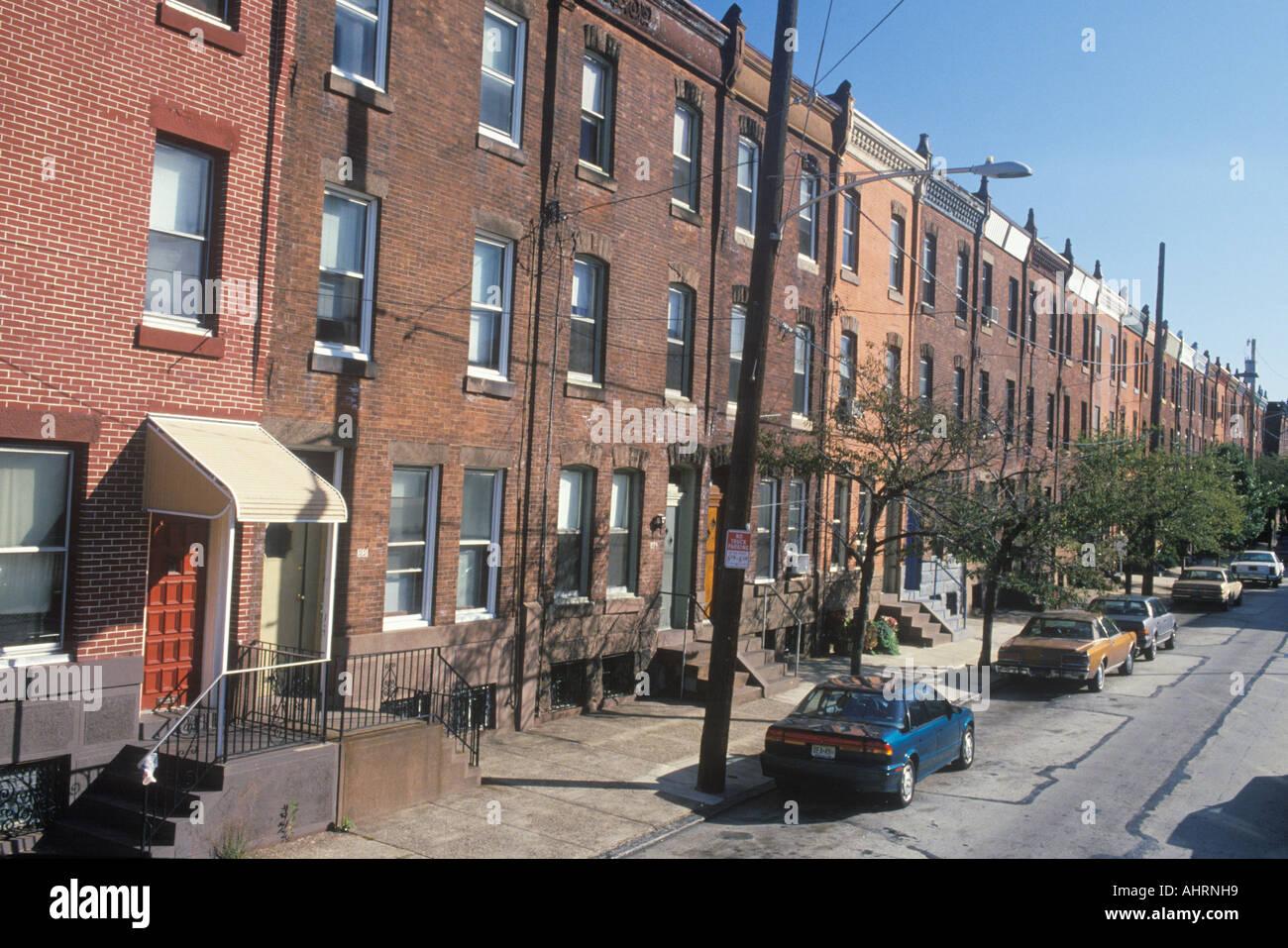 Low Income Apartment Housing Philadelphia Pennsylvania Stock Photo