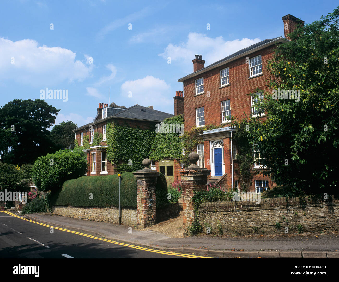 Lewis Carroll's home 'The Chestnuts' where Rev Charles Dodgeson author Alice in Wonderland lived. Guildford - Stock Image