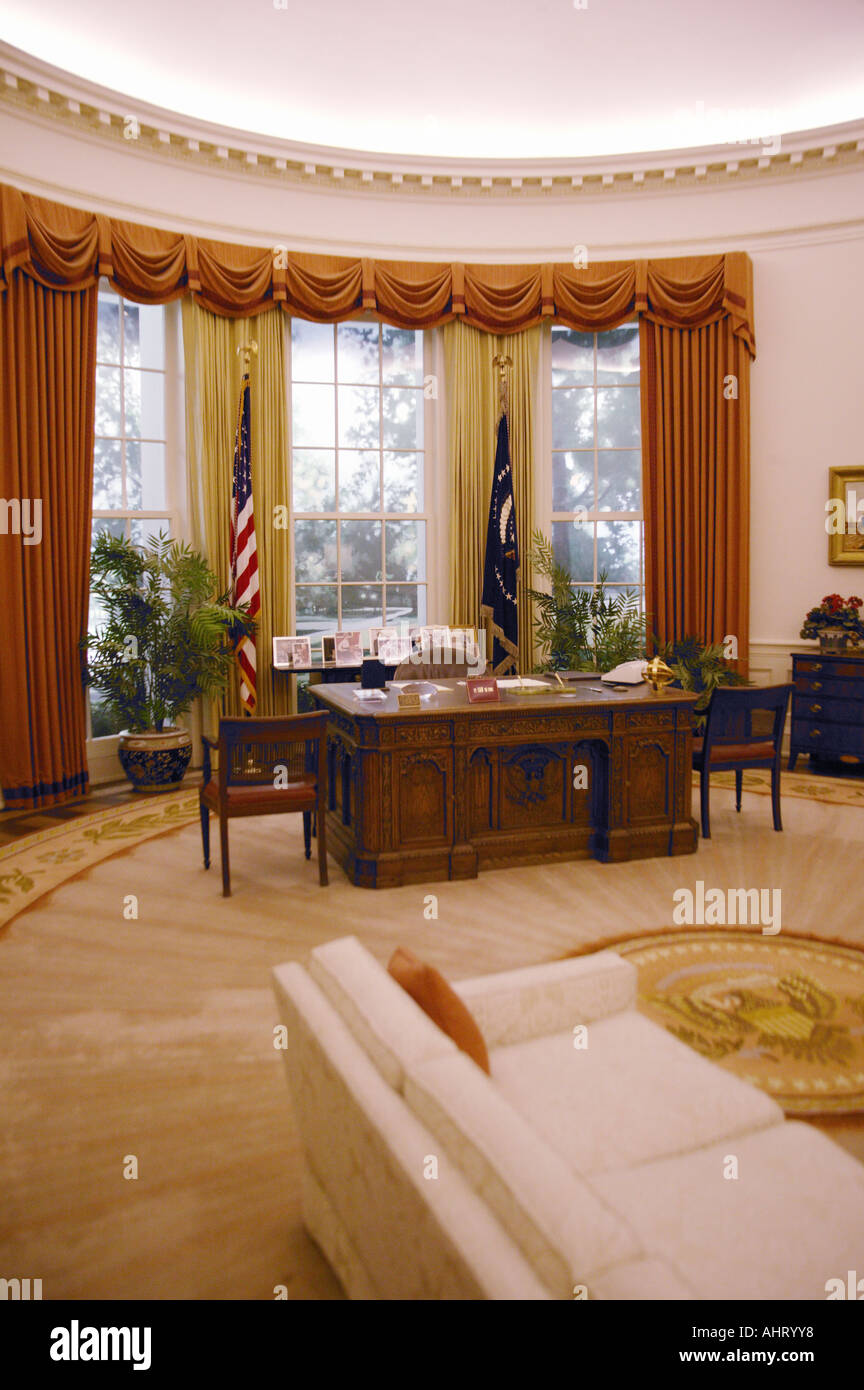 replica jfk white house oval office. Replica Of The White House Oval Office At Ronald W Reagan Presidential Library - Stock Jfk E