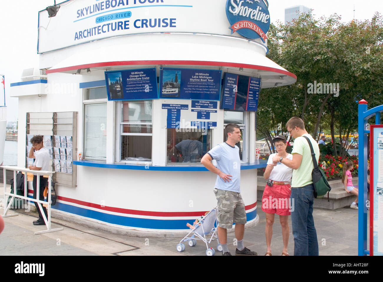 Ticket Booth For Sightseeing Boat Cruises At Navy Pier