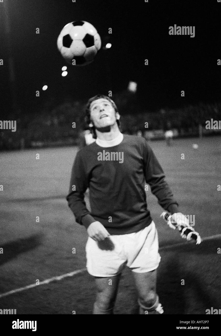 football, European Cup, eighth final, first leg, 1970/1971, Boekelberg Stadium in Moenchengladbach, Borussia Moenchengladbach versus FC Everton 1:1, football player, Alan Ball (Everton) - Stock Image