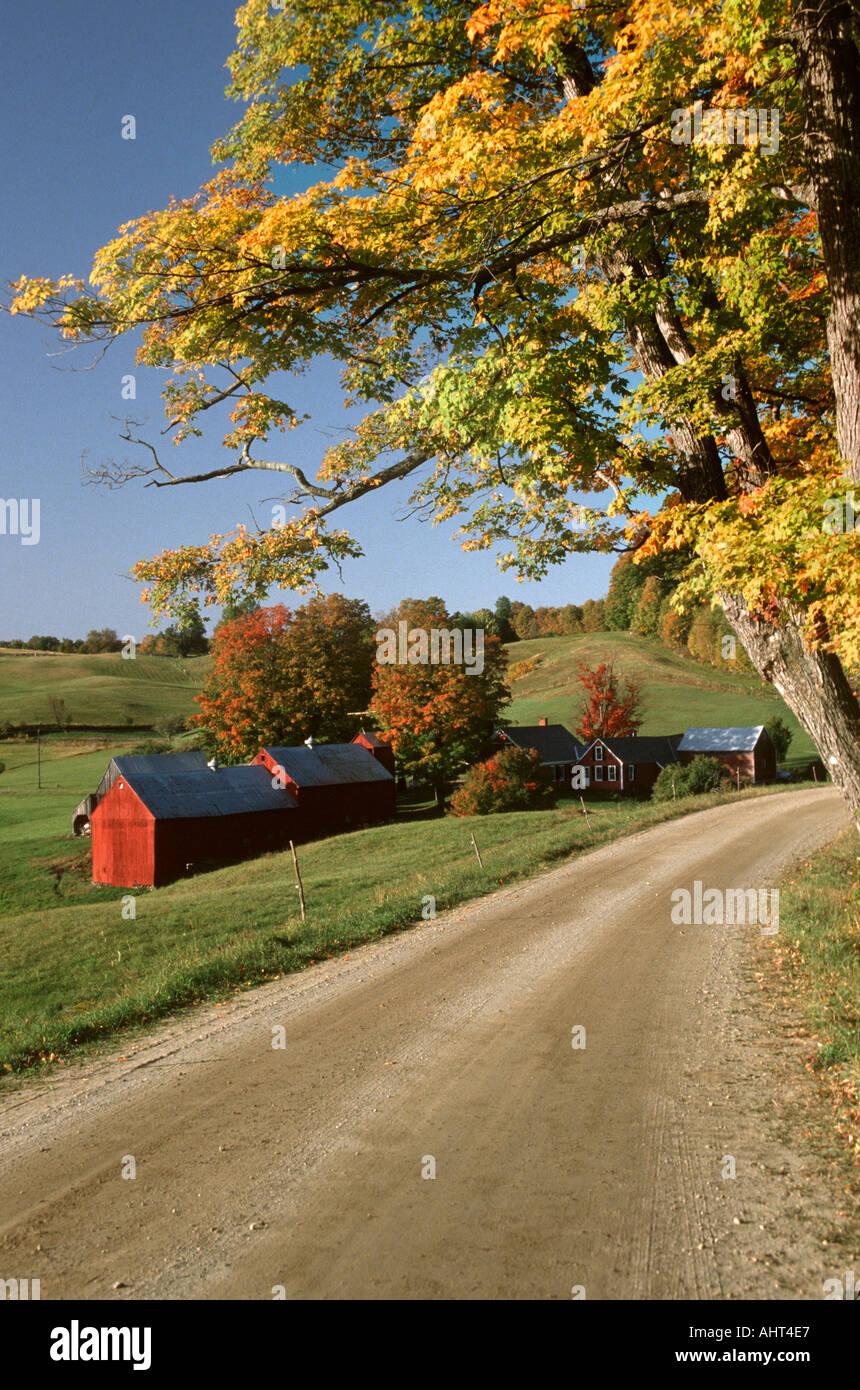 The Jenny Farm during autumn time Redding Vermont - Stock Image
