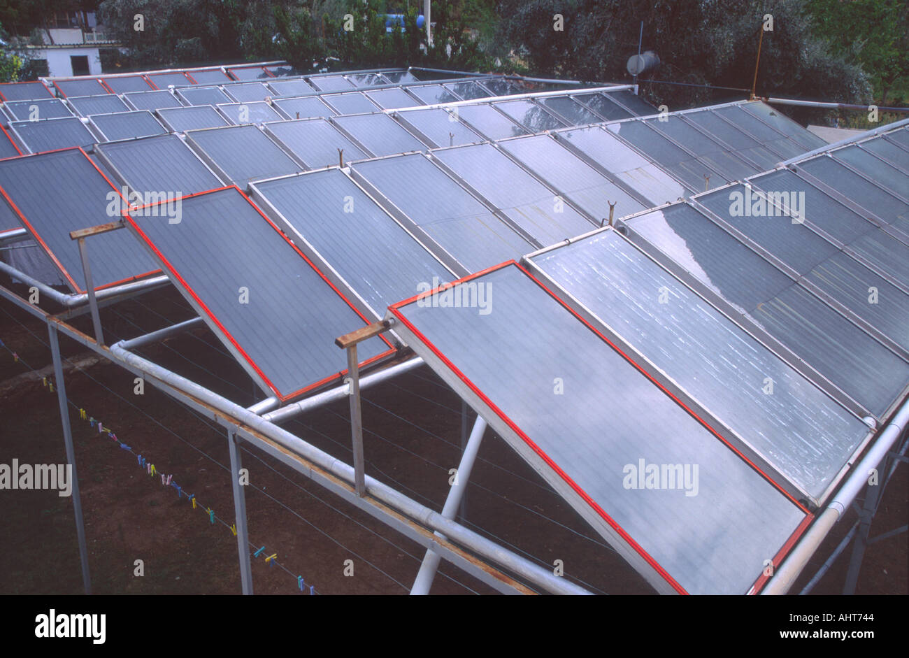 Solar panels Turkey Stock Photo