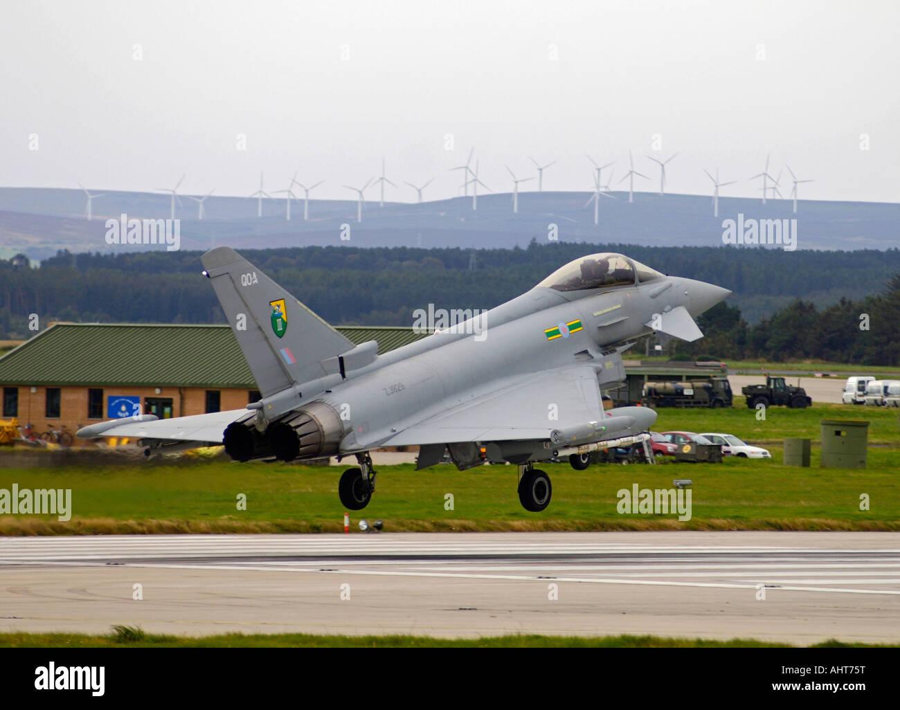 UK - Royal Air Force Eurofighter EF-2000 Typhoon F2 - Stock Image