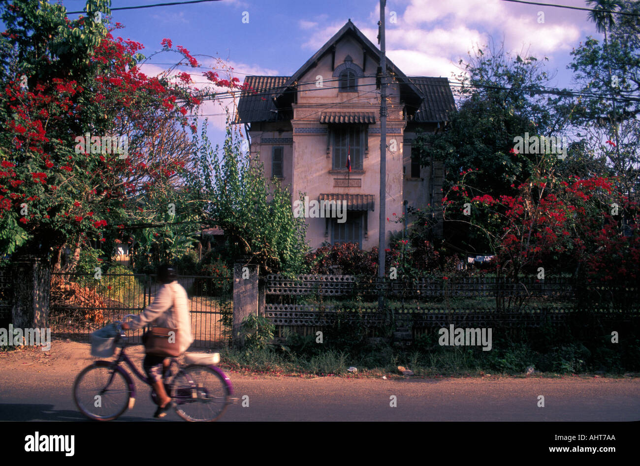 Laos Vientiane French Colonial House Stock Photo 2705321 Alamy