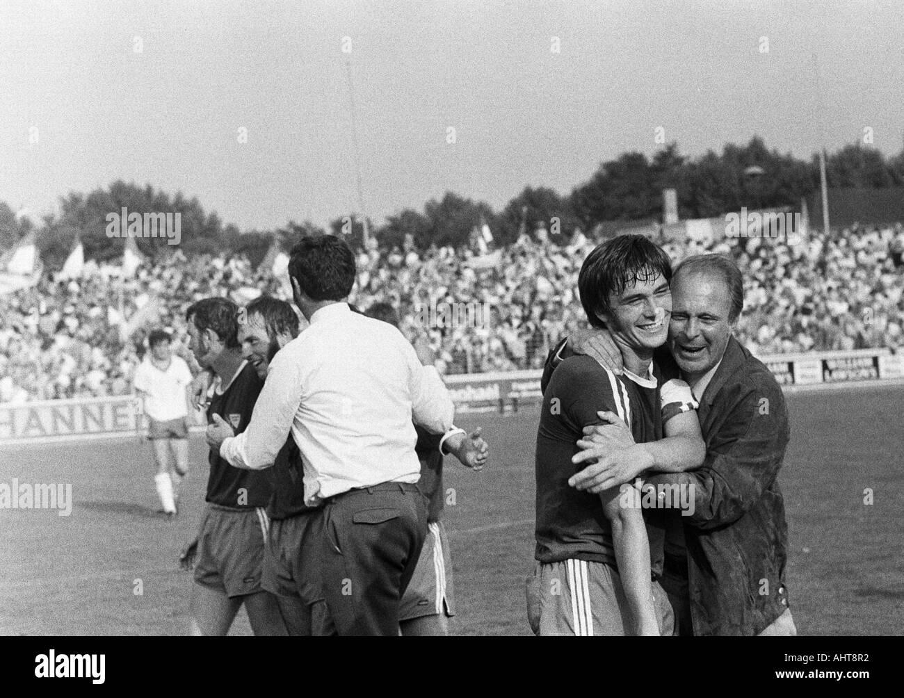 football, Bundesliga, 1971/1972, Niederrhein Stadium, Rot-Weiss Oberhausen versus VfL Bochum 2:3, Bochum football Stock Photo