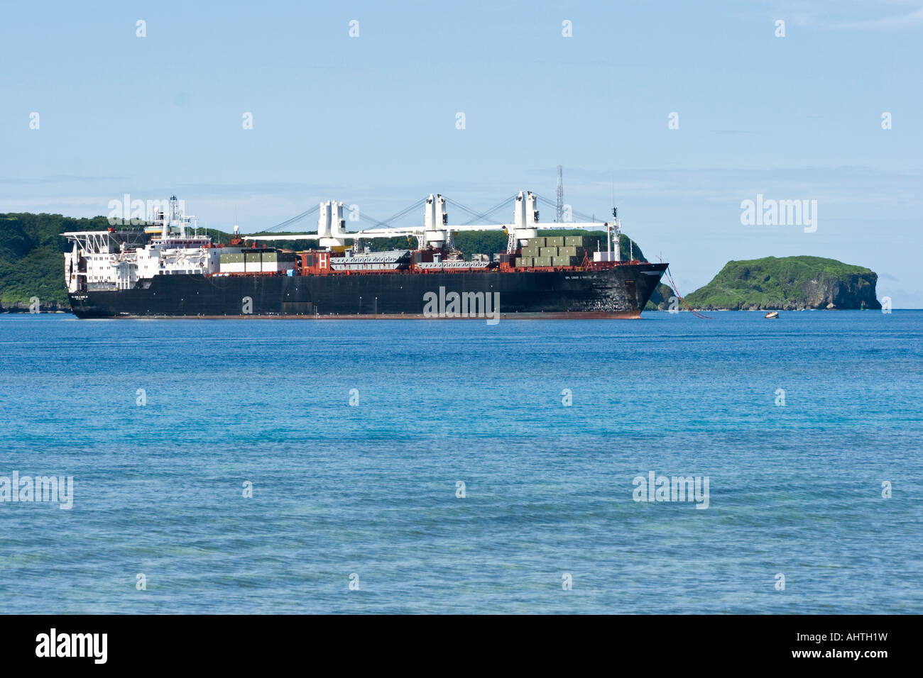 Cpl Louis J Halge Jr Military Freighter Apra Harbor Guam Stock Photo